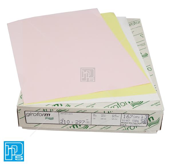 Giroform 3 part ncr white, yellow, pink