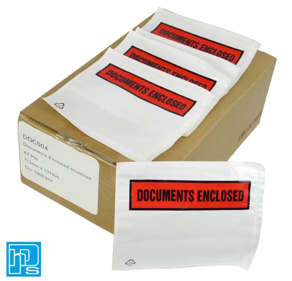 A7 Document Enclosed envelope Box