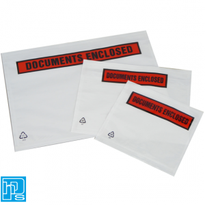 Self adhesive document enclosed wallets A5 A6 A7