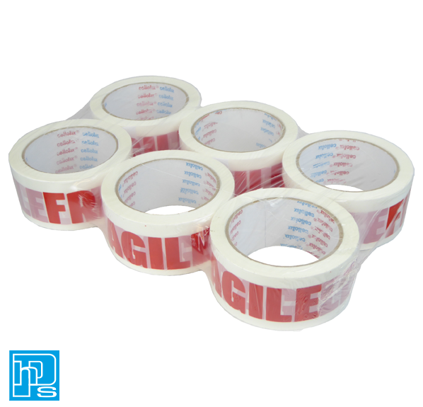 Cellofix Fragile Pre Printed Packaging Tape 48mm x 66m