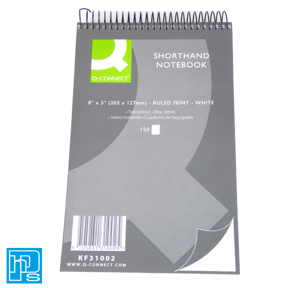 "Shorthand Notebook 8"" x 5"""