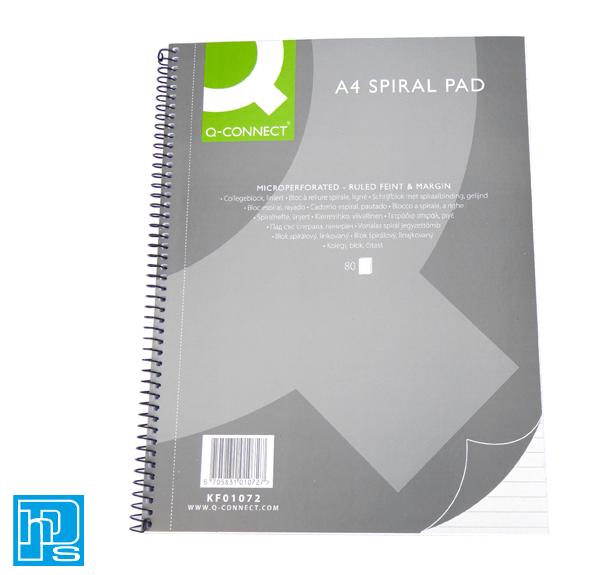 Q-Connect A4 Spiral Pad