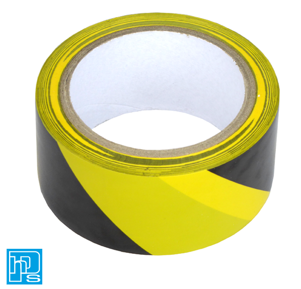 Q-Connect Yellow Black Hazard Tape
