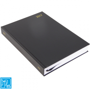 2017 A4 2 pages Per day Diary Black KF2A4BK17