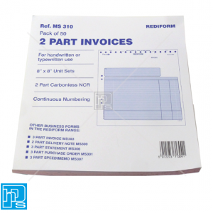 rediform-2-part-invoices