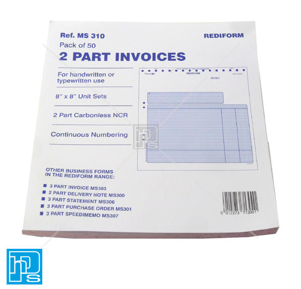 Rediform Part Invoices Sets HPS Supplies Ltd Office Supplies And - 2 part invoices