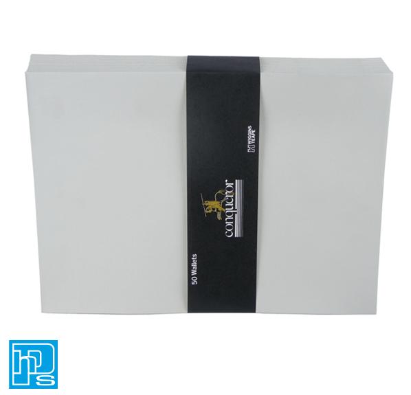 C4 conqueror grey laid envelopes