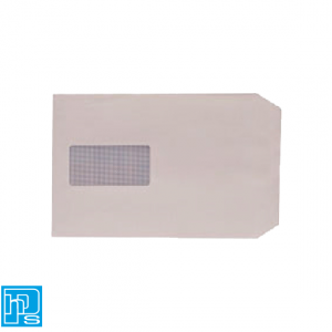 Envelope C5 100gsm Window Peel and Seal White Pk 500