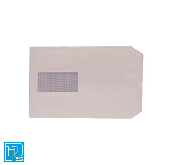 Envelope C5 100gsm Window Peel and Seal White Pk 500