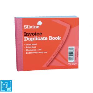 Silvine Invoice Duplicate Book
