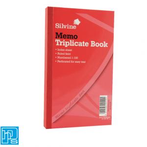 Silvine Triplicate Memo Book 605