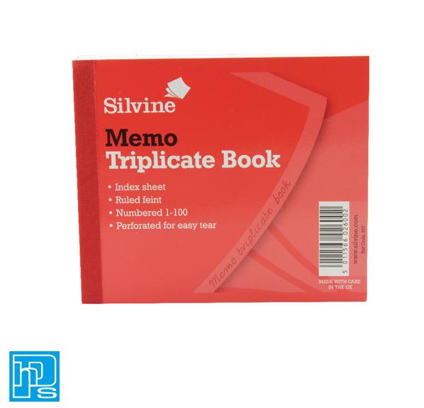 Silvine Triplicate Memo Book 607