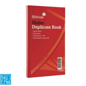 Silvine Duplicate Order Book 610