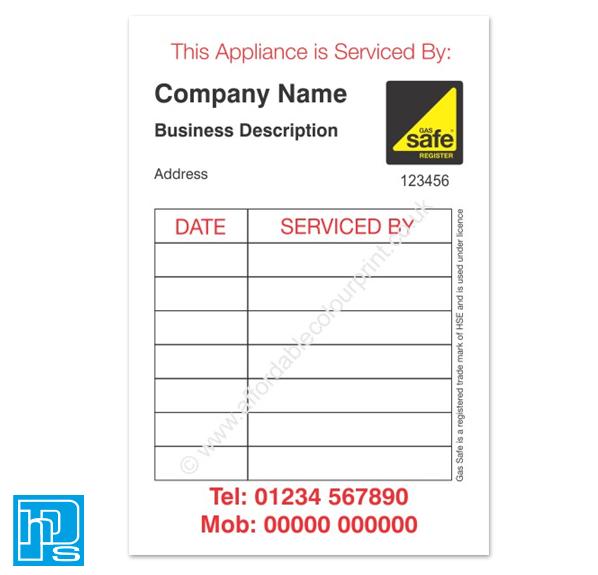 Gas Safe Boiler Service Reminder Stickers | eBay