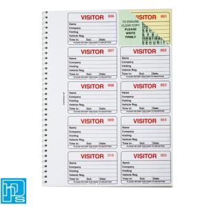 Identibadge visitors book refill
