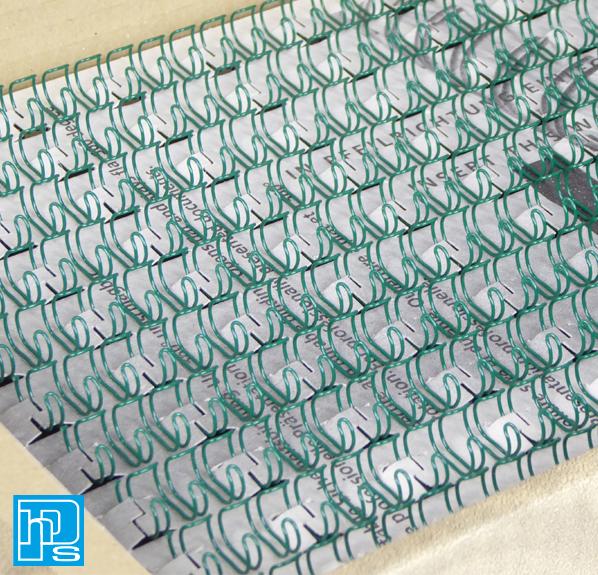 Renz Premium Quality 8mm 60 Sheet (No. 5) A4 3:1, 34 Loop Binding Wires, Green,