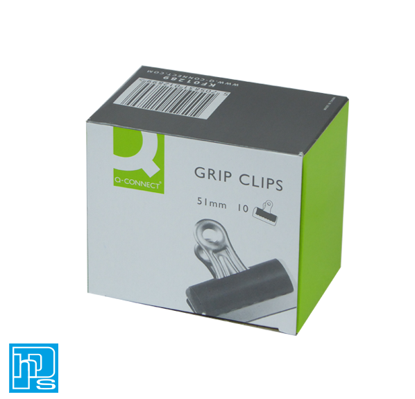 Q-Connect 51mm Black Grip Clip (Pack of 10) KF01289