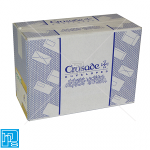 250 Crusade C4 White 100gsm Gummed Pocket Envelopes