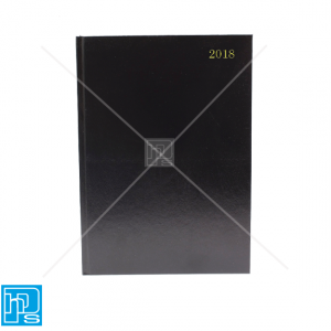 2018 Black A4 '2 Pages Per Day' Restaurant and Hotel Hardback Diary