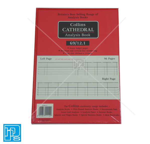 Collins Cathedral Analysis Account book 69/12.1